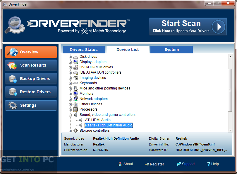 Driver Finder 3.7.2 Crack + Serial Key Download Full 2019